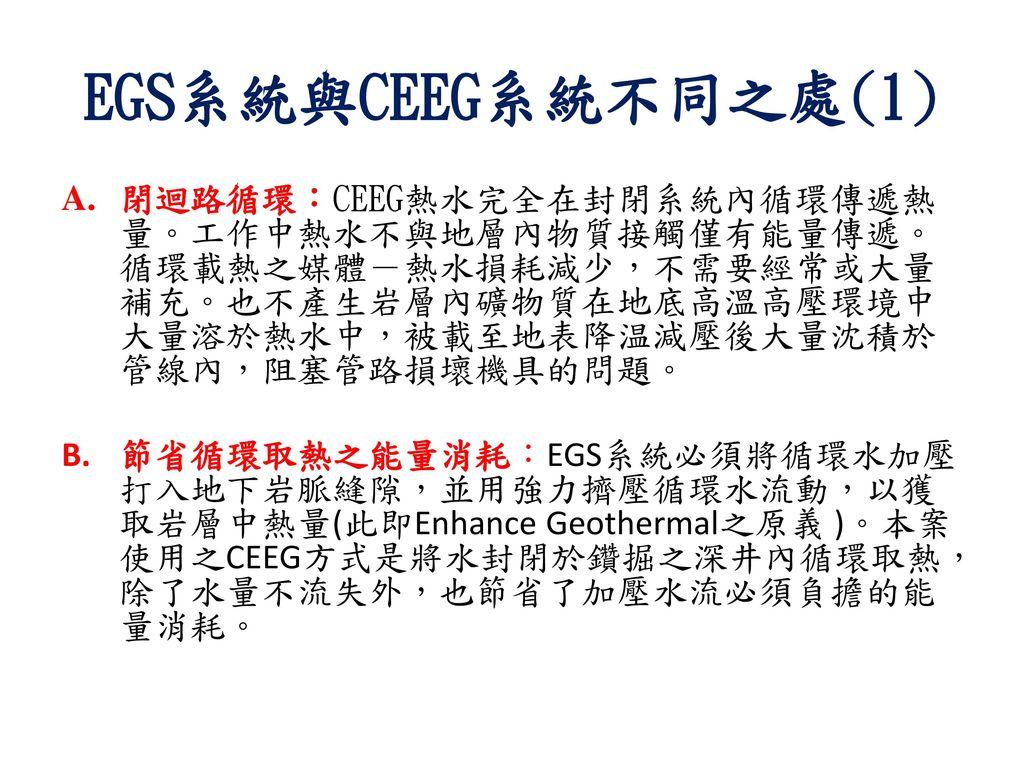 EGS系統與CEEG系統不同之處(1)