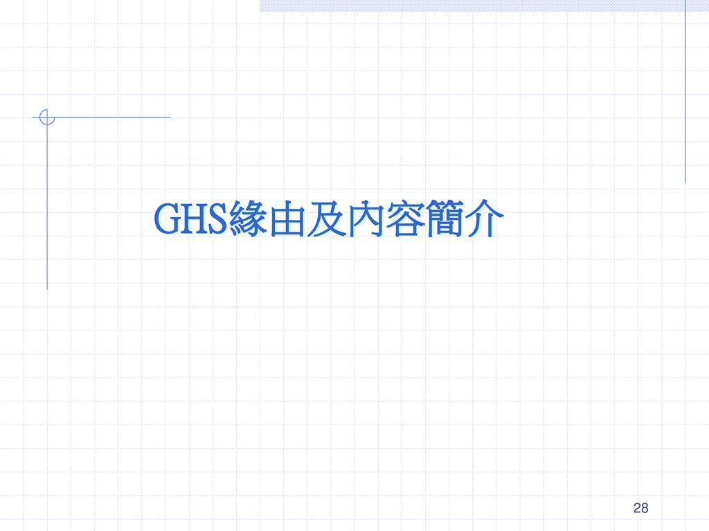 GHS緣由及內容簡介