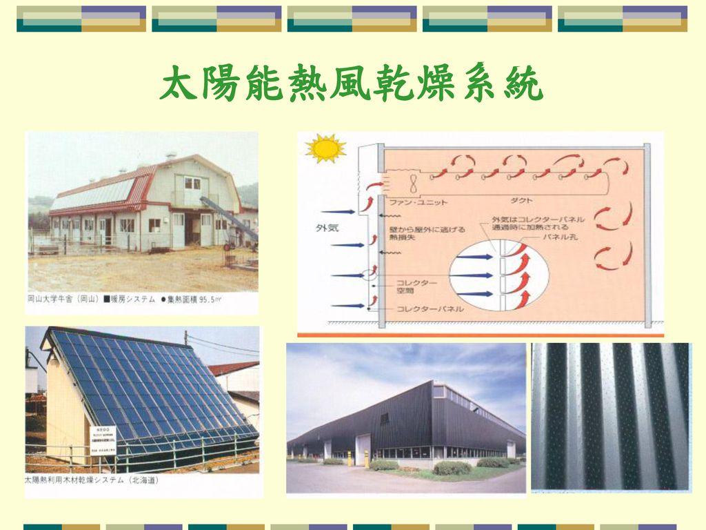 太陽能熱風乾燥系統
