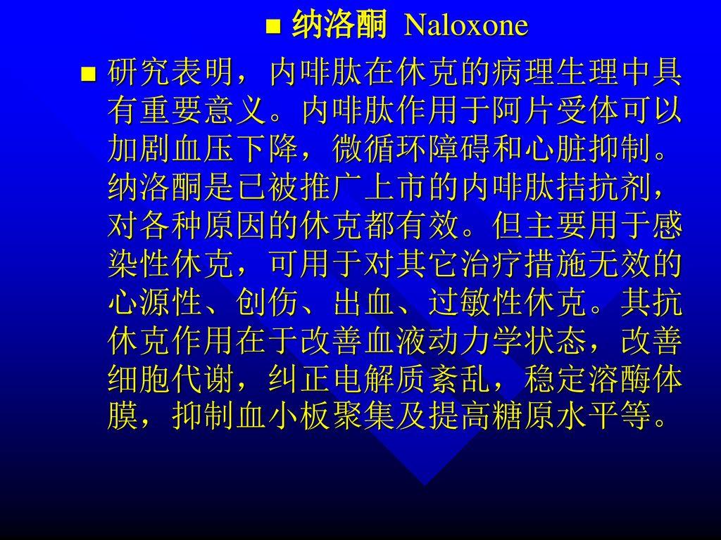 纳洛酮 Naloxone