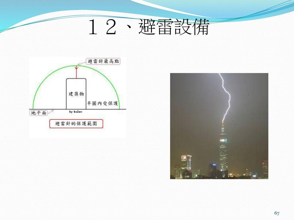 12、避雷設備
