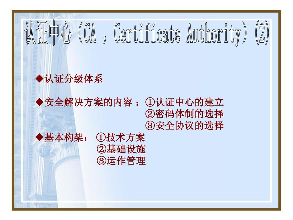 认证中心(CA ,Certificate Authority)(2)