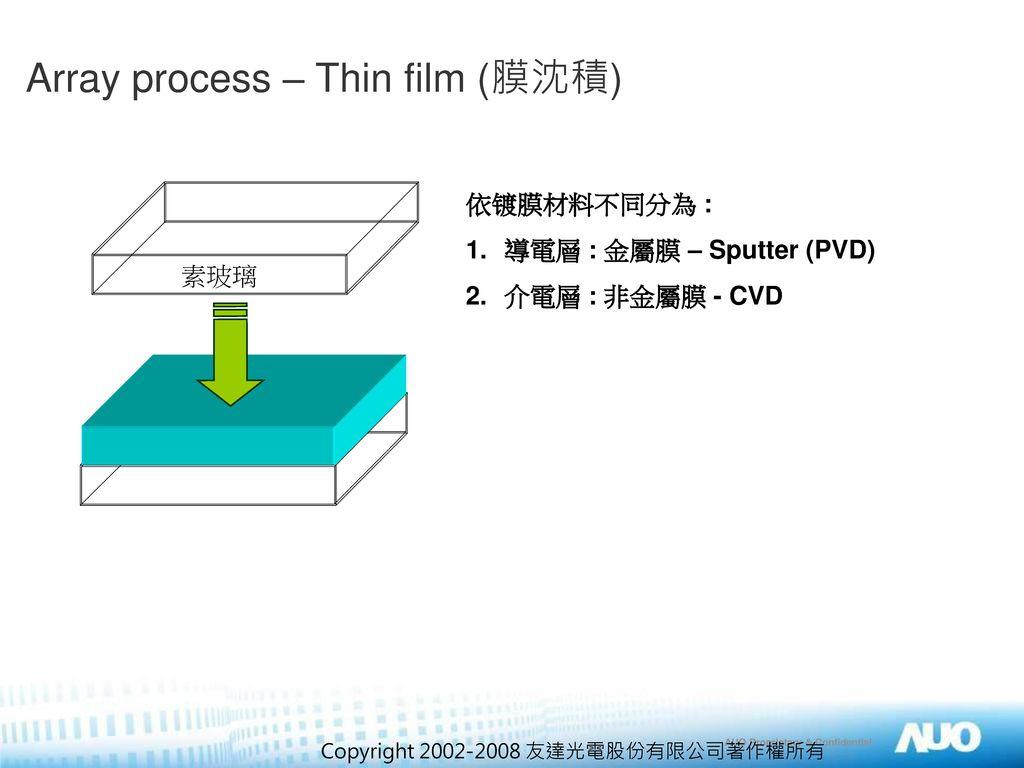 Array process – Thin film (膜沈積)