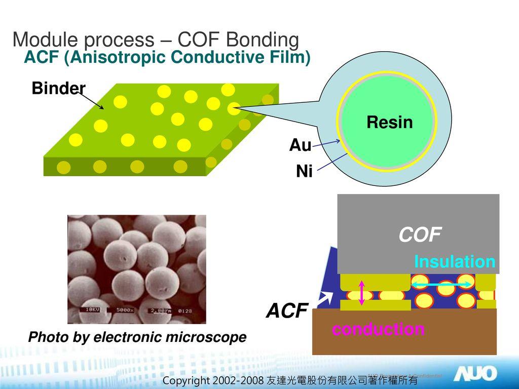 Module process – COF Bonding