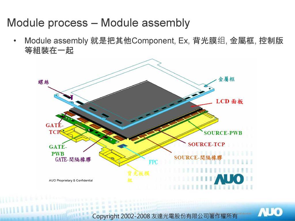 Module process – Module assembly