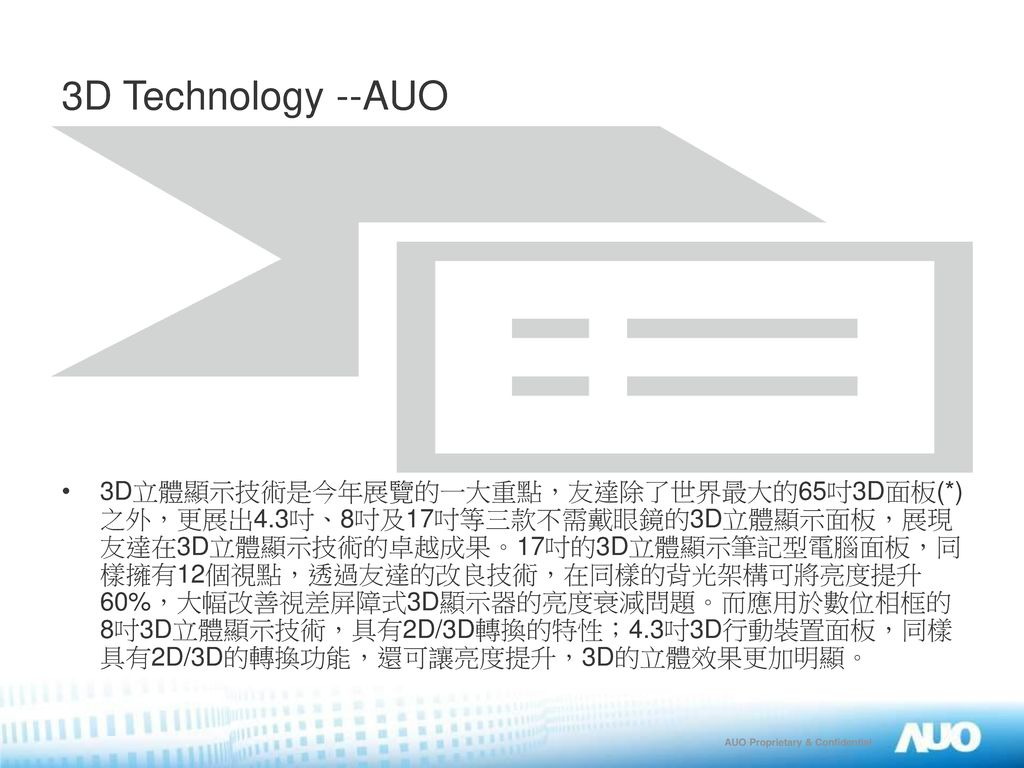 3D Technology --AUO