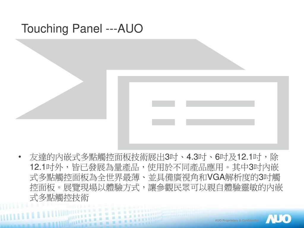 Touching Panel ---AUO