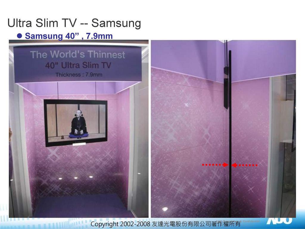 Ultra Slim TV -- Samsung