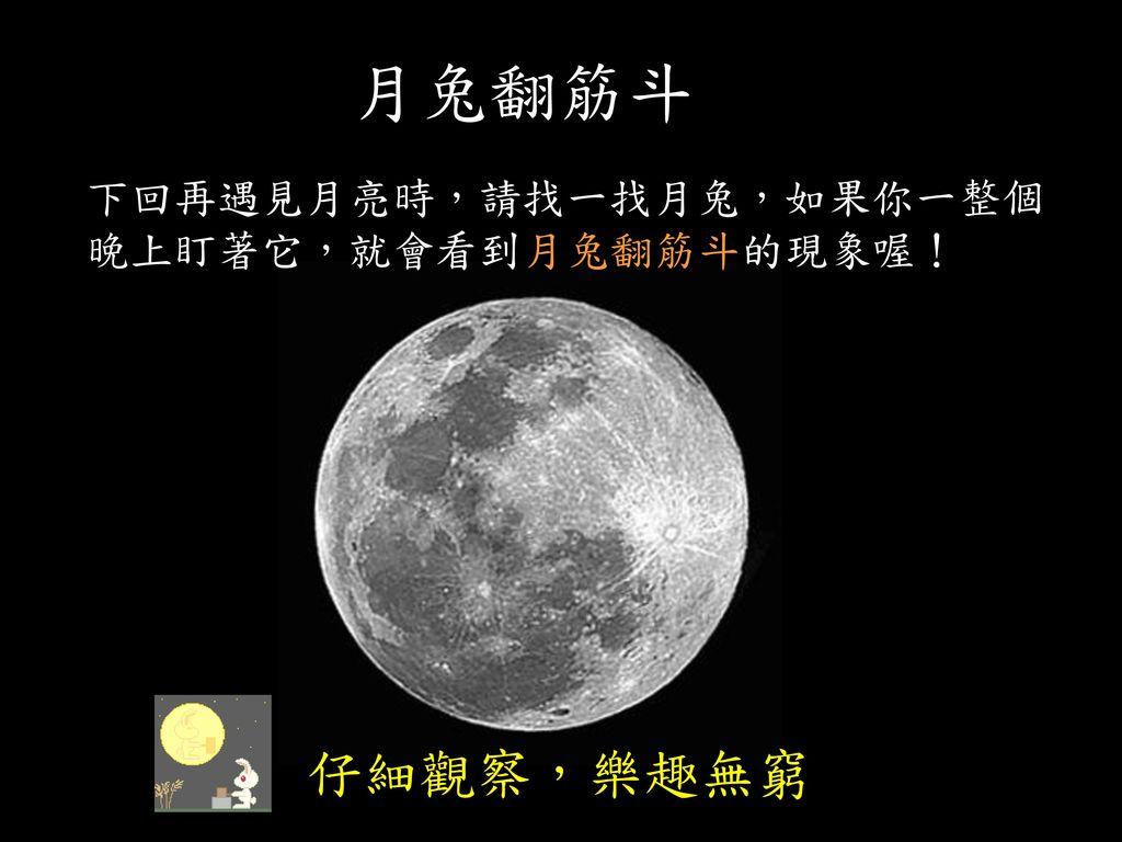 當月亮在南方時,危難海在月面的右方 像嫦蛾正在照鏡