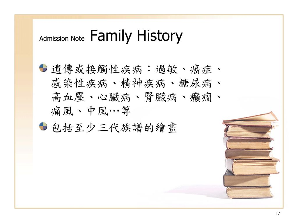 Admission Note Family History