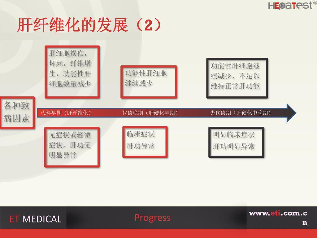 肝纤维化的发展(2) Progress ET MEDICAL 各种致病因素 www.eti.com.cn