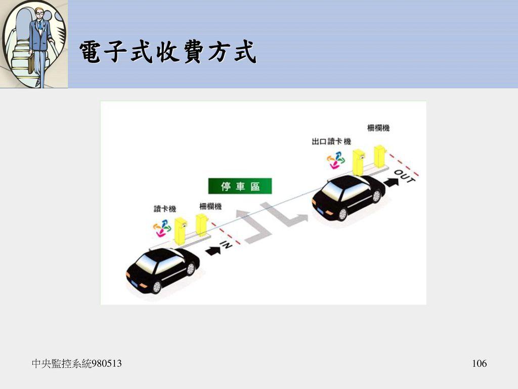 電子式收費方式 中央監控系統980513