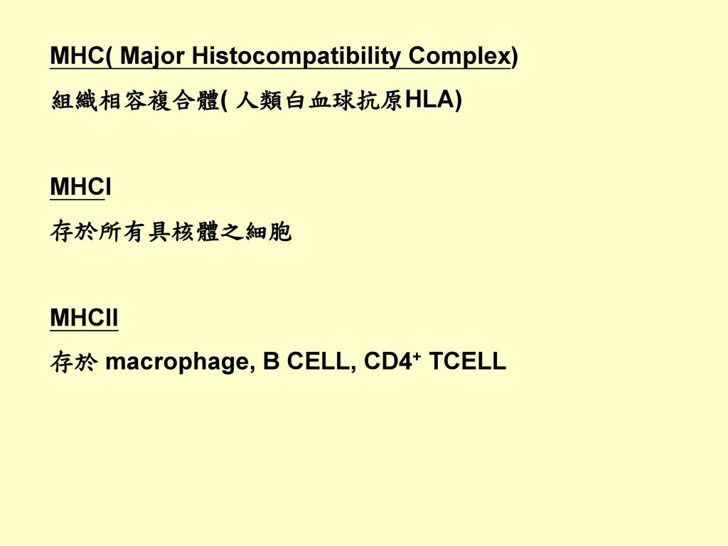 MHC( Major Histocompatibility Complex)