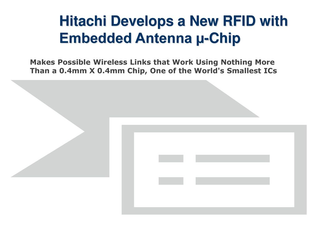 Hitachi Develops a New RFID with Embedded Antenna µ-Chip