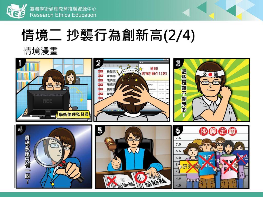 情境二 抄襲行為創新高(2/4) 情境漫畫