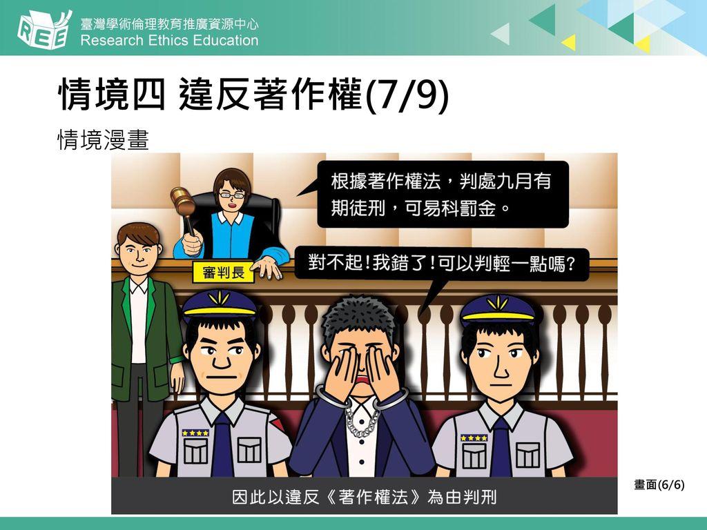 情境四 違反著作權(7/9) 情境漫畫 畫面(6/6)