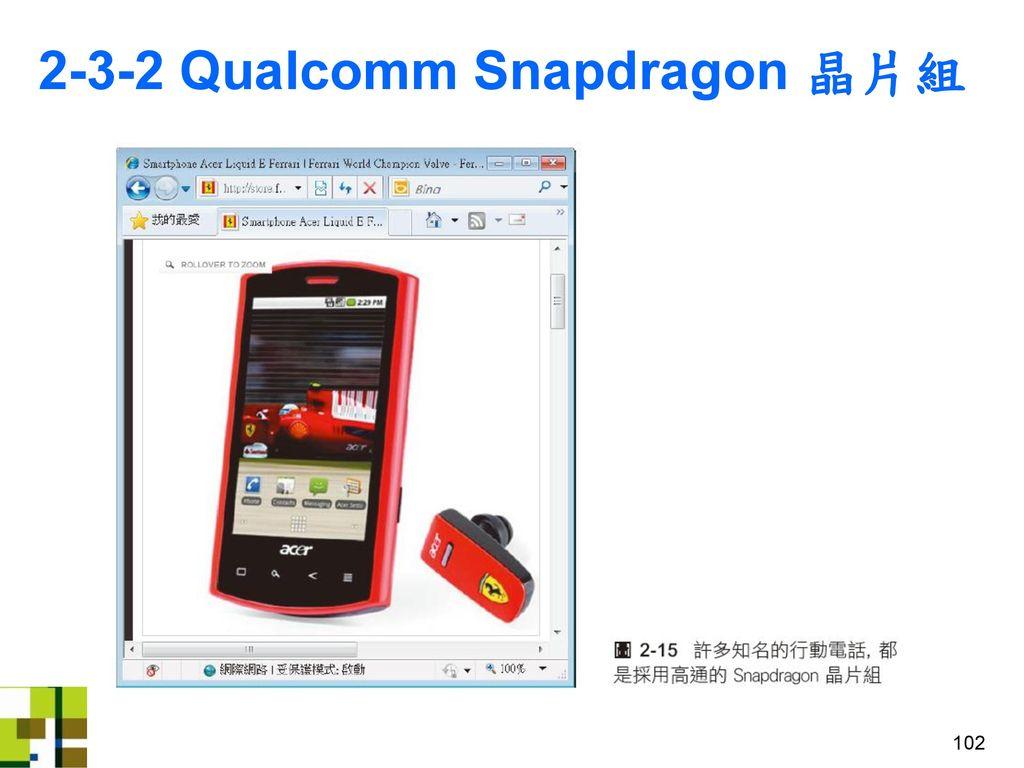 2-3-2 Qualcomm Snapdragon 晶片組