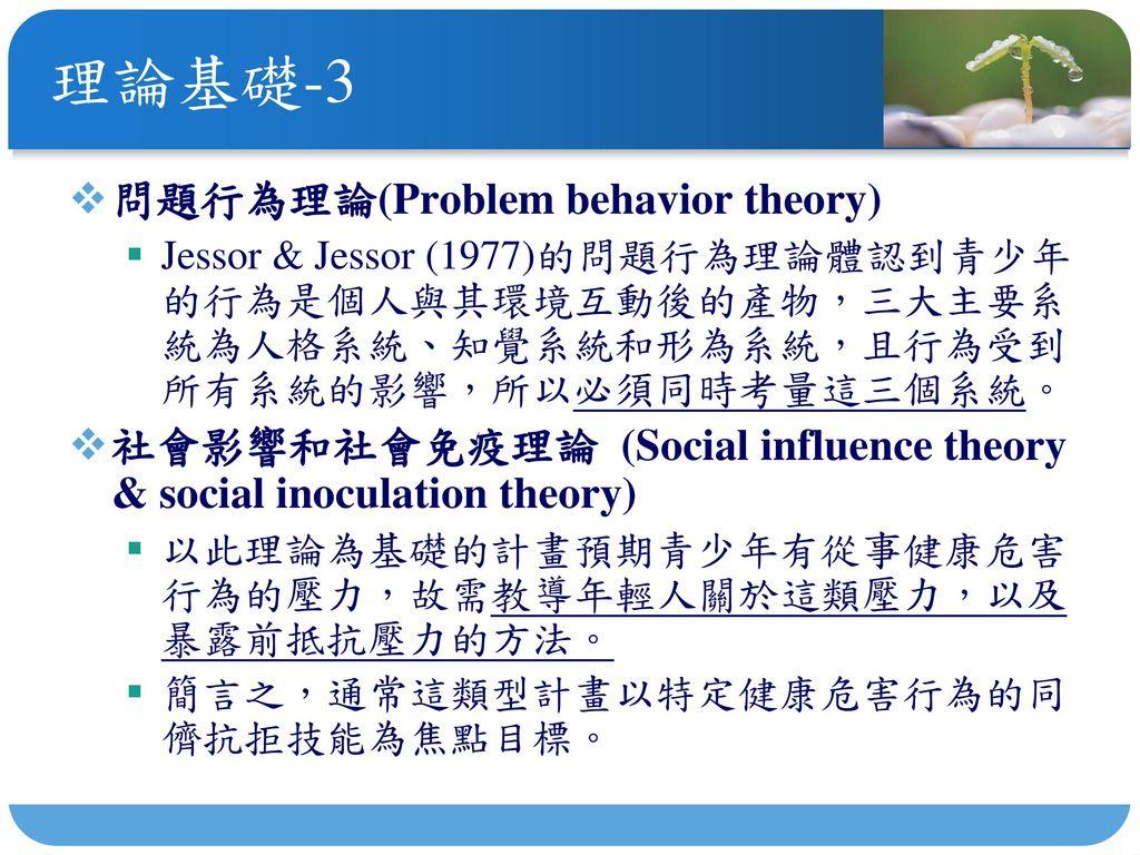 理論基礎-3 問題行為理論(Problem behavior theory)