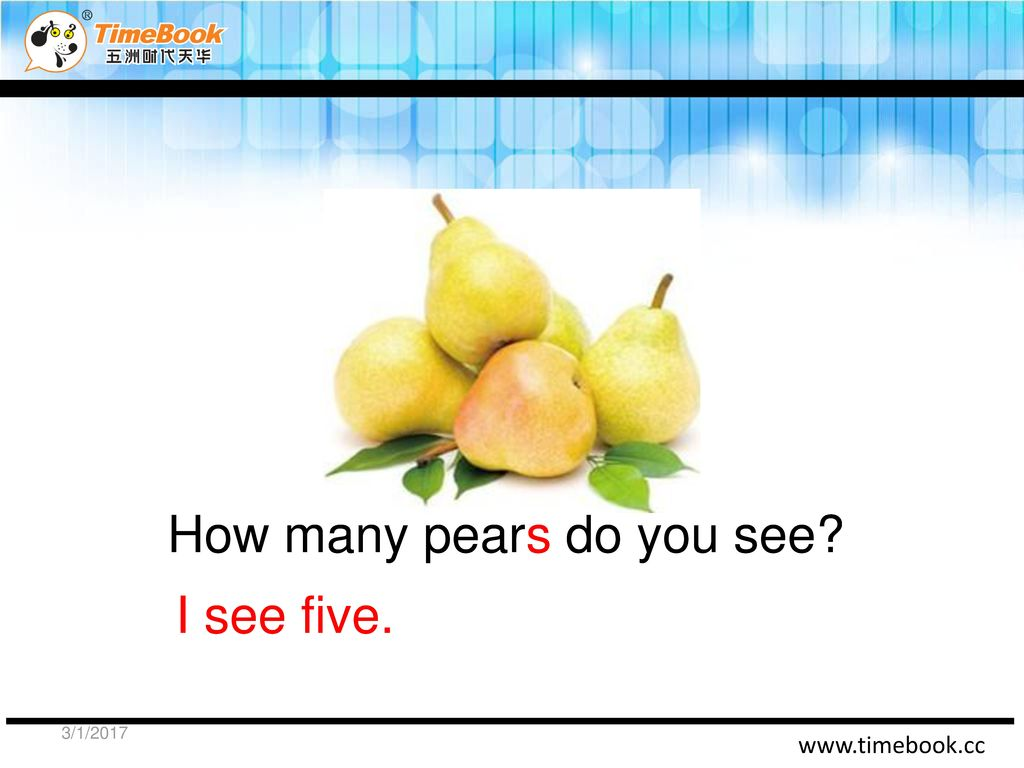 How many pears do you see