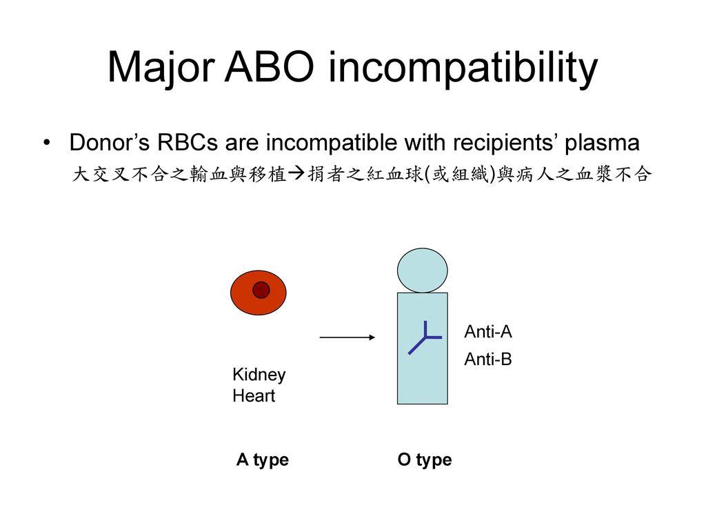 Major ABO incompatibility