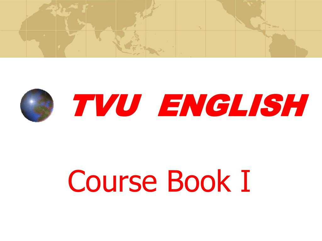 TVU ENGLISH Course BookⅠ