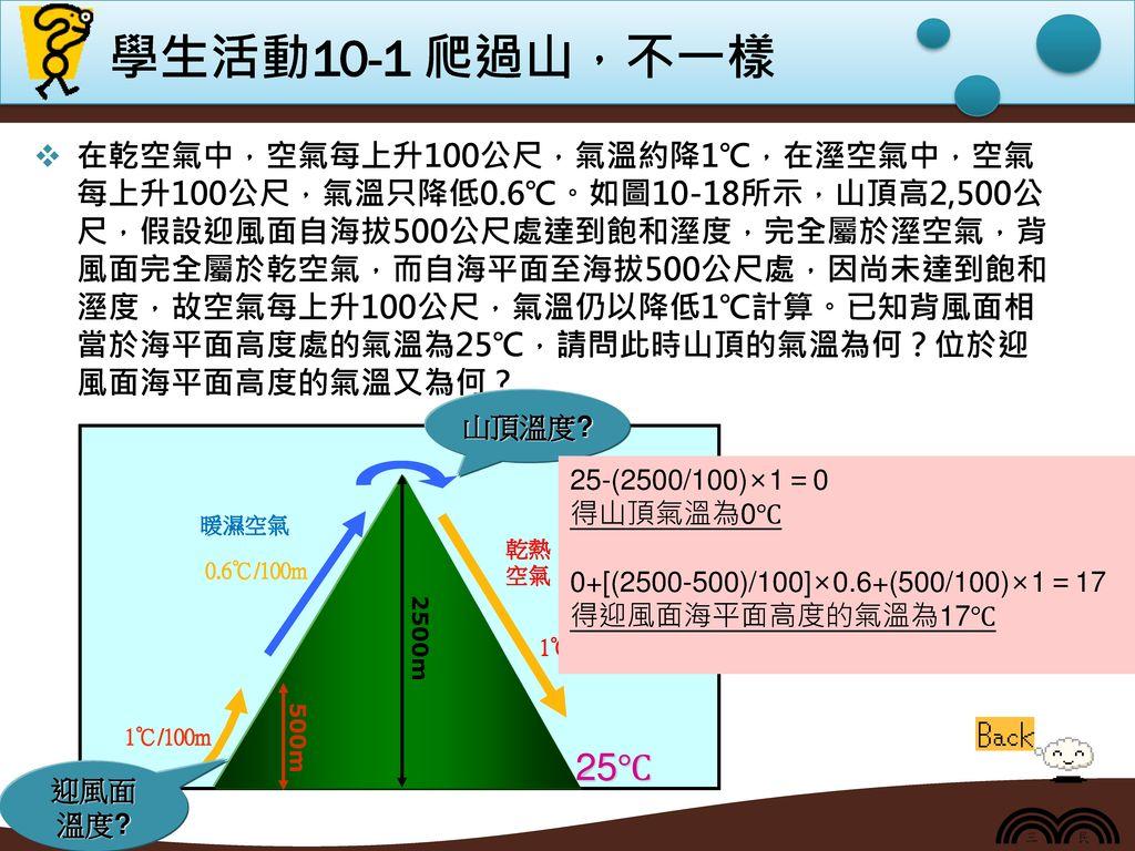 學生活動10-1 爬過山,不一樣