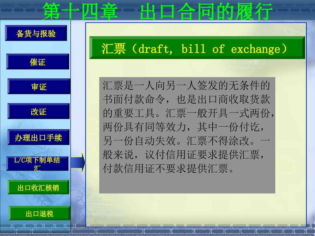 汇票(draft, bill of exchange)