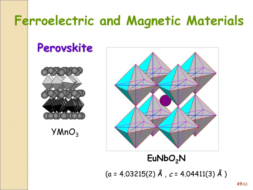 Ferroelectric and Magnetic Materials