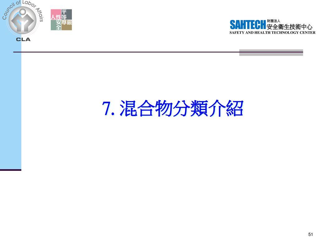 7. 混合物分類介紹