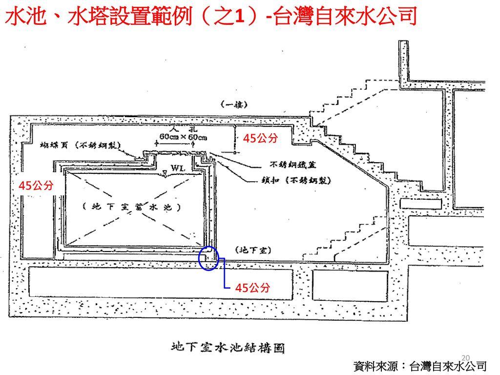 水池、水塔設置範例(之1)-台灣自來水公司
