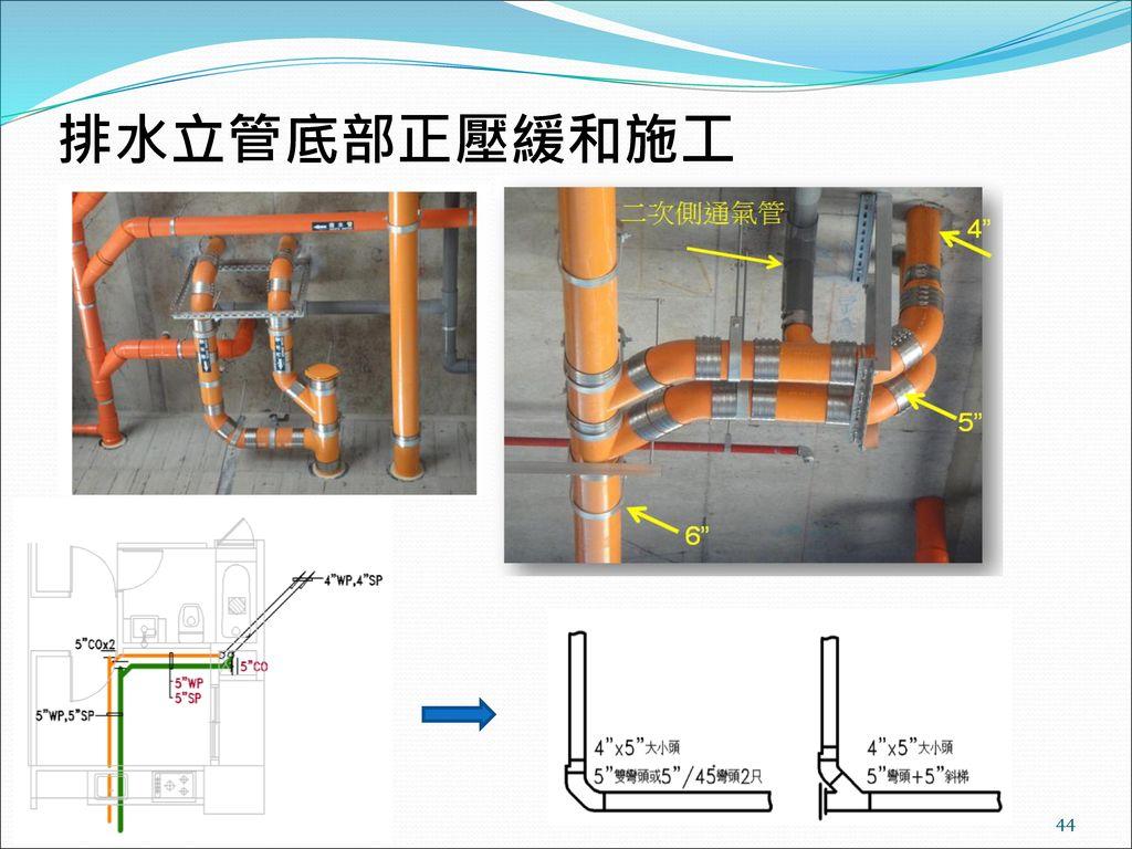 排水立管底部正壓緩和施工