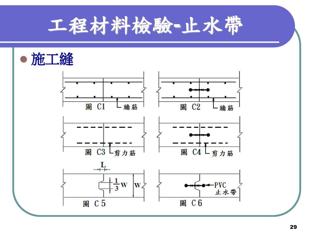 工程材料檢驗-止水帶 施工縫