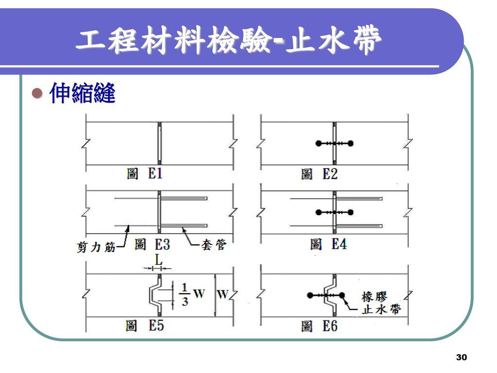 工程材料檢驗-止水帶 伸縮縫