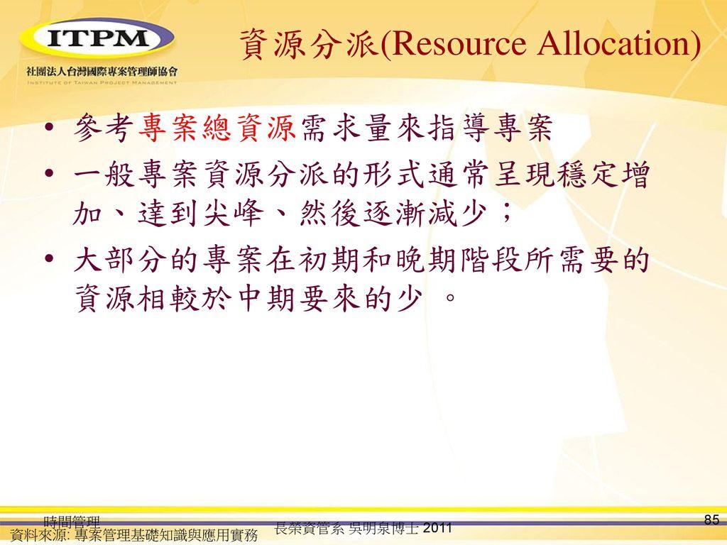 資源分派(Resource Allocation)