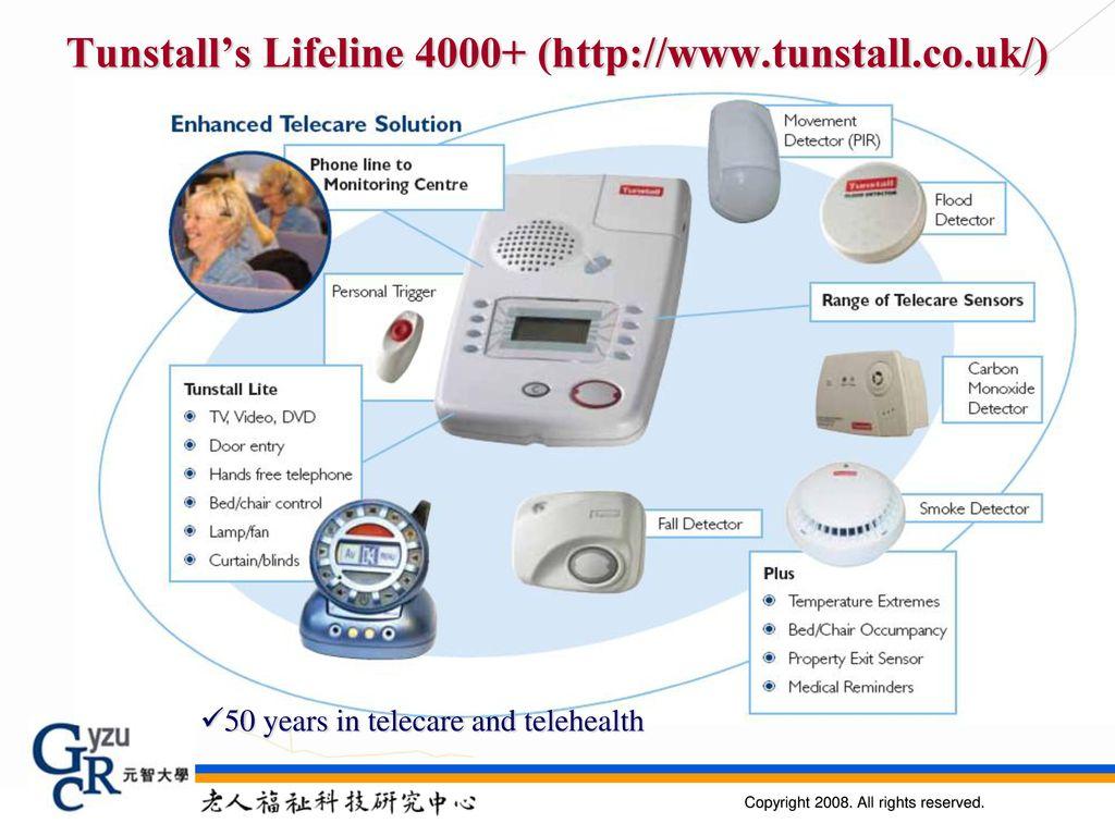 Tunstall's Lifeline 4000+ (http://www.tunstall.co.uk/)