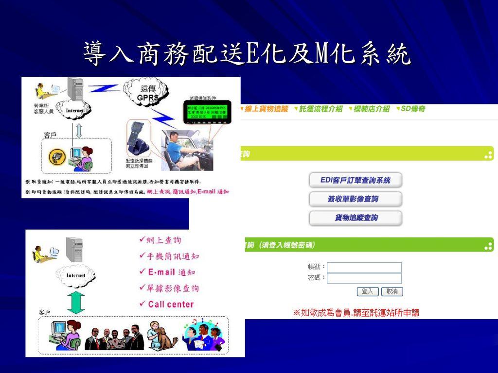 導入商務配送E化及M化系統
