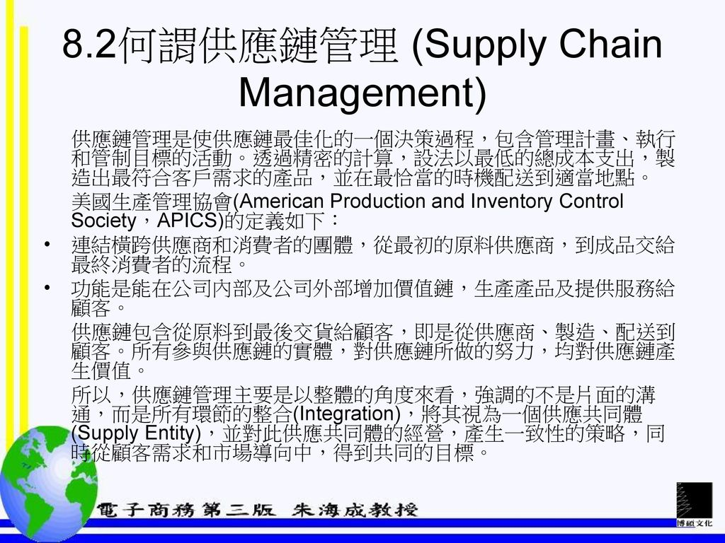 8.2何謂供應鏈管理 (Supply Chain Management)