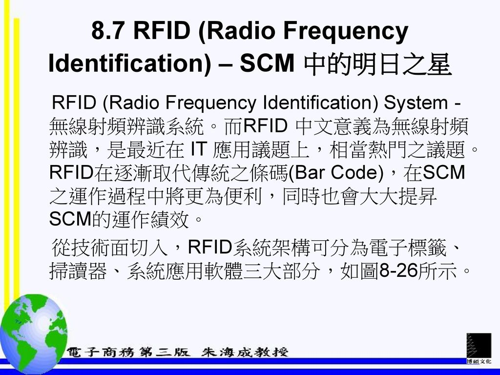 8.7 RFID (Radio Frequency Identification) – SCM 中的明日之星