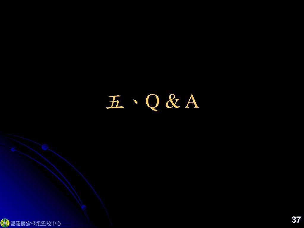 五、Q & A 37 基隆關倉棧組監控中心