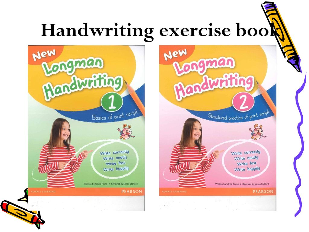 Handwriting exercise book