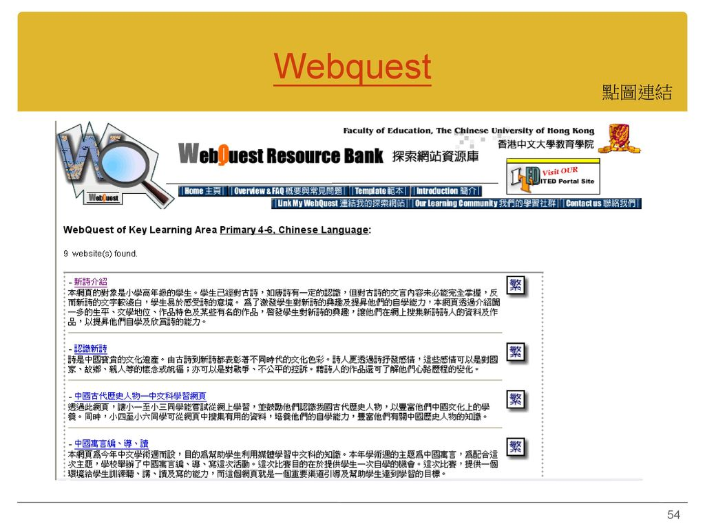 Webquest 點圖連結