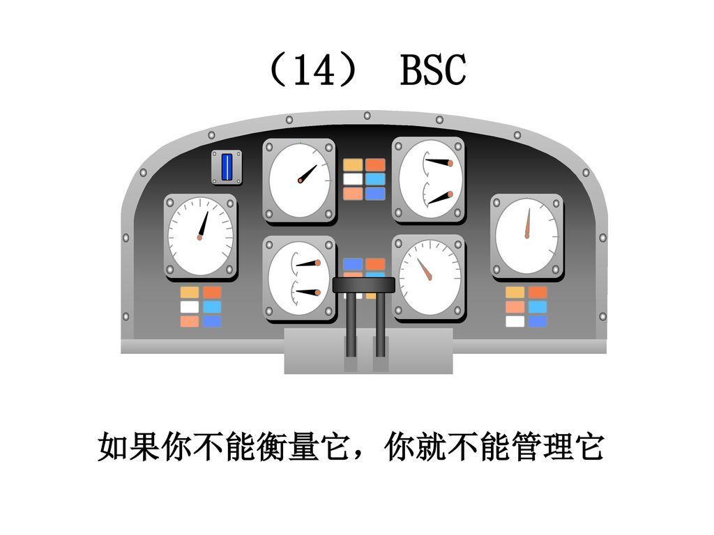 (14) BSC 如果你不能衡量它,你就不能管理它