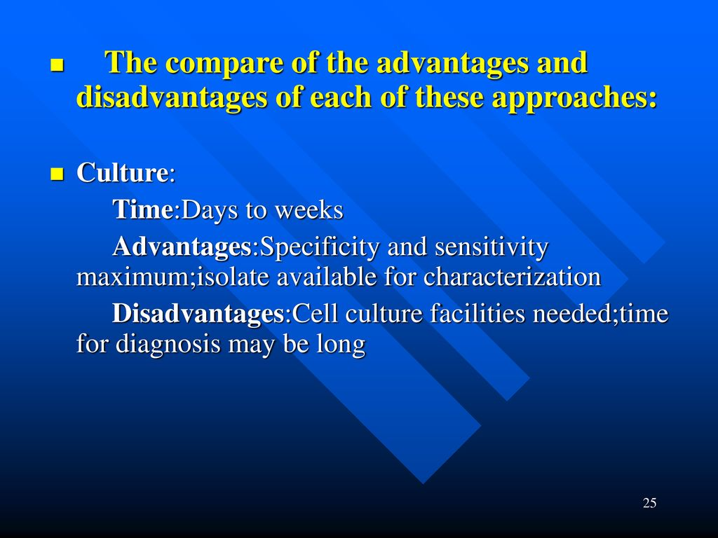 The compare of the advantages and disadvantages of each of these approaches: