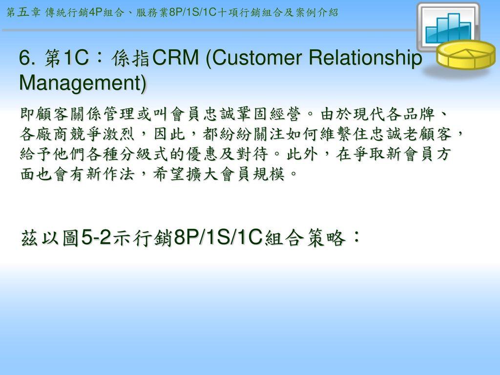 6. 第1C:係指CRM (Customer Relationship Management)