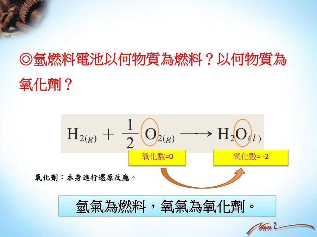 ◎氫燃料電池以何物質為燃料?以何物質為氧化劑?