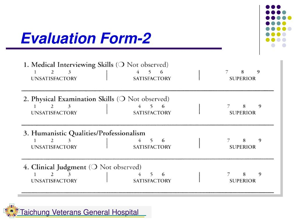 Evaluation Form-2