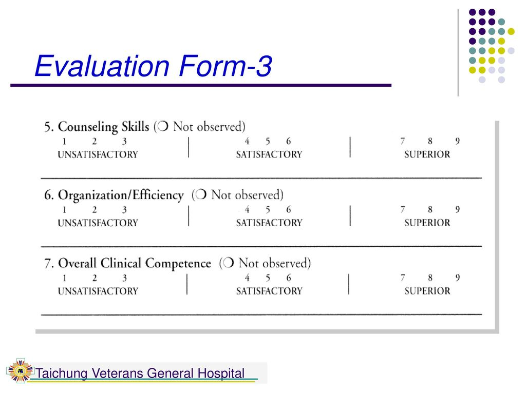 Evaluation Form-3