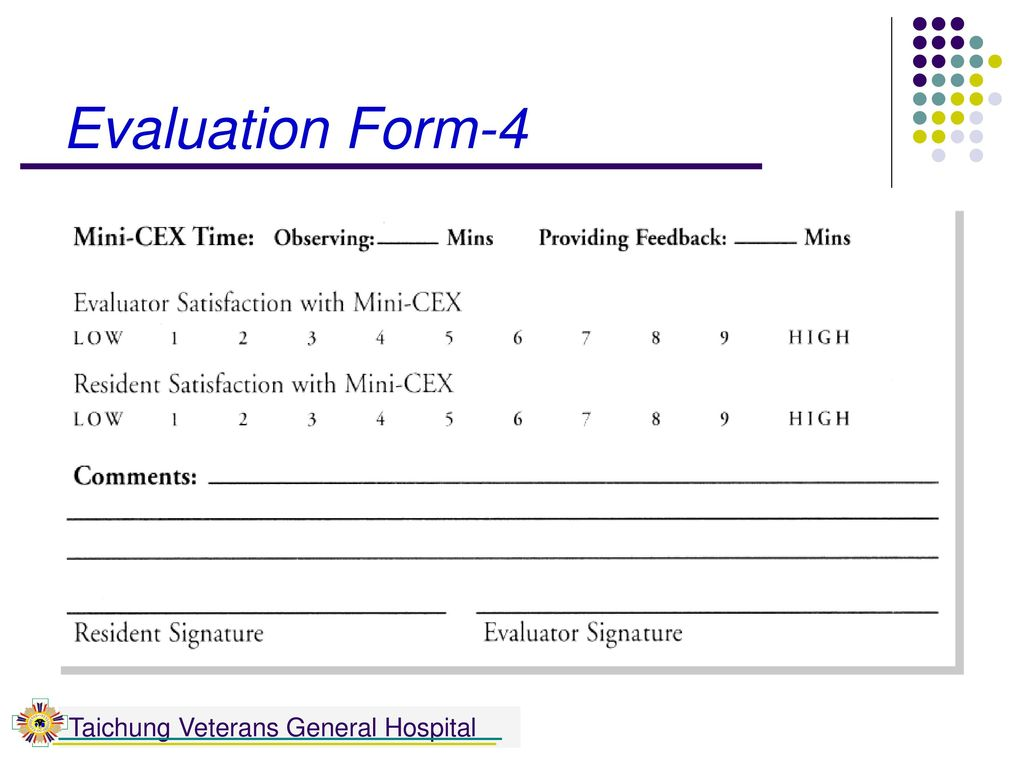 Evaluation Form-4