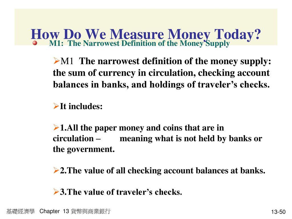 How Do We Measure Money Today