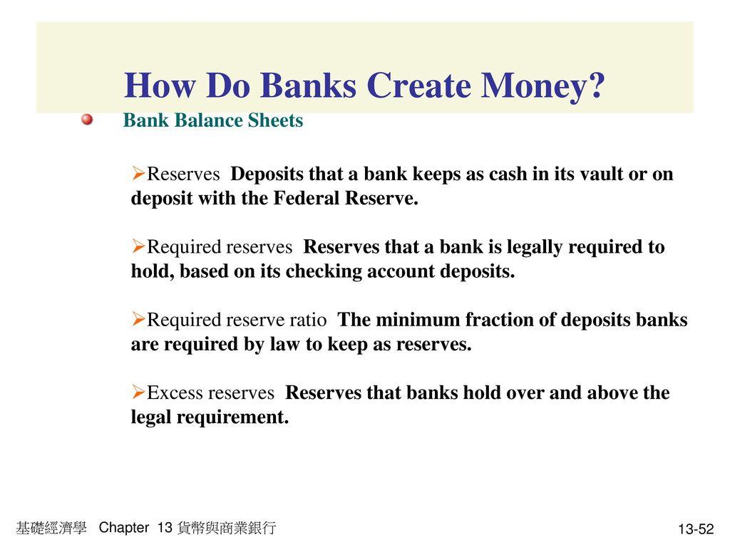 How Do Banks Create Money
